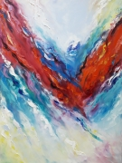 tableau abstrait art abstrait : painting *Wave of bright emotions*