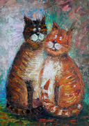 tableau animaux artmodern homedecor : Cats in love