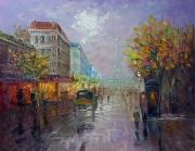 tableau architecture abstrait paris tableau architecture : painting *Paris* oil on canvas 90x70 cm