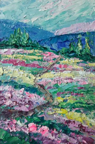 TABLEAU PEINTURE Abstrait Fleurs art Fleurs Fleurs Tableau Paysages Peinture a l'huile  - Spring emotions