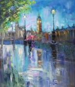 tableau architecture abstraction abstrait london visitlondon : *Romantic London*Oil on canvas 70x80 cm