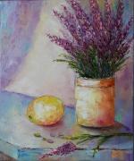 tableau fleurs abstrait lavender fleurs abstrait fleurs tableaux : Lavender flowers