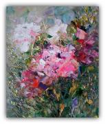 tableau fleurs fleurs rose rose art abstrait : Flowers Painting Floral Original Art Flowers Impasto