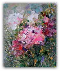 Flowers Painting Floral Original Art Flowers Impasto