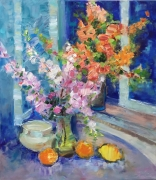 tableau fleurs flowers flowers and plants abstract modernhomedecorbr : SPRING FLOWERS STILL LIFE
