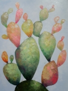tableau fleurs art : painting *Friendly family*