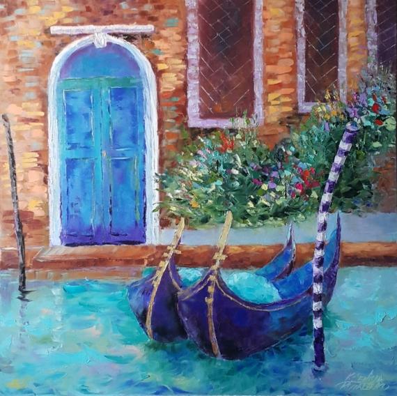 TABLEAU PEINTURE Charming Venice Venice Italie abstrait Architecture Peinture a l'huile  - painting *Charming Venice*