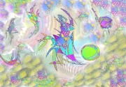 art numerique scene de genre suspension creatures espace : Acrobates
