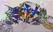 art numerique scene de genre poisson ciel : Poisson volant