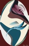 art numerique scene de genre vol oiseaux : Cygnes