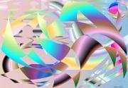 art numerique scene de genre geometrie cercles perspective : Geotry