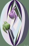 art numerique scene de genre fond marin poissons : Poissons-Plumes