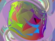art numerique scene de genre poisson fluo : Poisson Lune