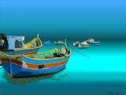 art numerique scene de genre bateau colore : OHmonBateau