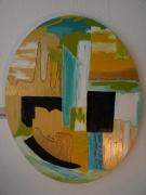 tableau abstrait : buldimania ovale