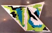 tableau abstrait : cerf volant
