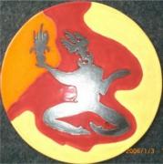 ceramique verre personnages : plat