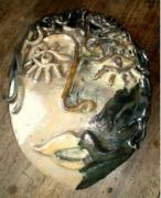 sculpture personnages : masque femme