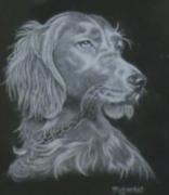 artisanat dart animaux chien granit gravure diamant : tête de chien
