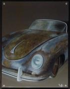 tableau autres porsche voiture vintage rouille : 356 s