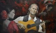 tableau personnages paco de lucia flamenco portrait personnage : paco de lucia