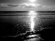 photo paysages mer plage couchee de soleil sable fin : Marée basse
