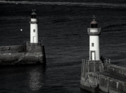 photo paysages belle Île en mer le palais port phare : Les 2 tours...