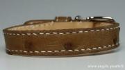 artisanat dart animaux cuir d autruche collier chien collier chien cuir cuir exotique : Collier pour Chien - Jamie