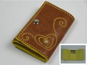 artisanat dart cuir portecles coeur agate rubanee : Etui Porte-clés - Aydan