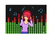 dessin personnages musique fille promarker manga : Musique