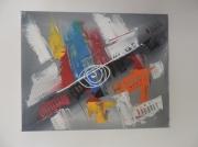 tableau abstrait : palette d'artiste