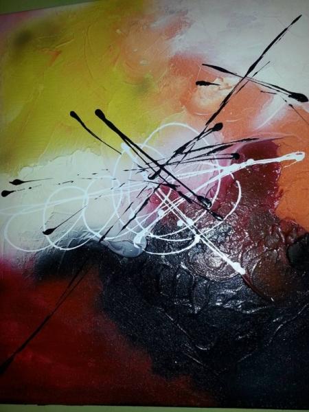 TABLEAU PEINTURE Abstrait Acrylique  - surprise