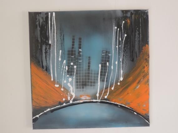 TABLEAU PEINTURE Abstrait Acrylique  - new york