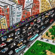 art numerique villes cite rues ville building : URBAIN