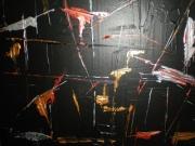 tableau abstrait : impression
