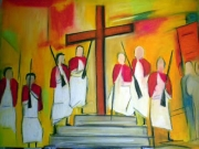 dessin personnages paques tradition ressurection christ : Paques à cargese