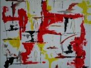 tableau abstrait : couleurs