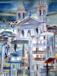 vieux port bastia; église saint jean baptiste