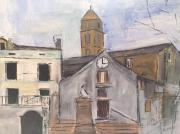 tableau paysages : santa lucia di mercurio; village corse