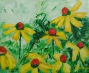 tableau fleurs peinture ,a l hu fleurs en peinture l huile sur toi : Fleurs jaunes