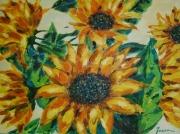 tableau fleurs tournesoles : Les Tournesols