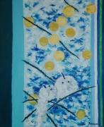 tableau paysages l huile sur toi peinture peinture ,a l hu : Hiver