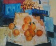 tableau fruits peinture ,a l hu peinture oranges toile : Des oranges