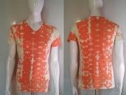art textile mode abstrait clementine orange coton teeshirt : clémentine
