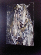 tableau animaux : Cheval blanc