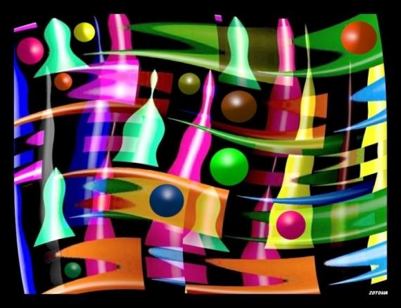 ART NUMéRIQUE abstrait numérique composition Abstrait  - 019/2016