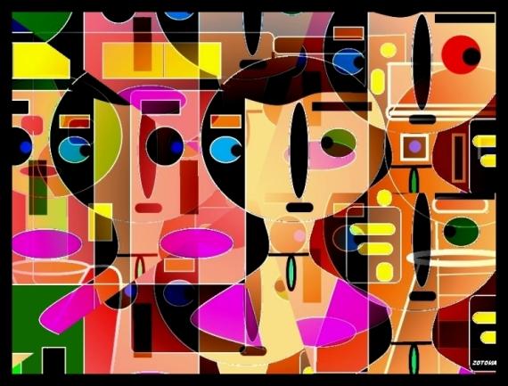 ART NUMéRIQUE abstraction composition numérique Abstrait  - 075/2016