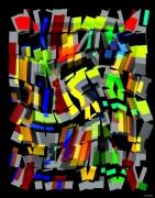 art numerique abstrait vertical abstrait numerique : 073/2015
