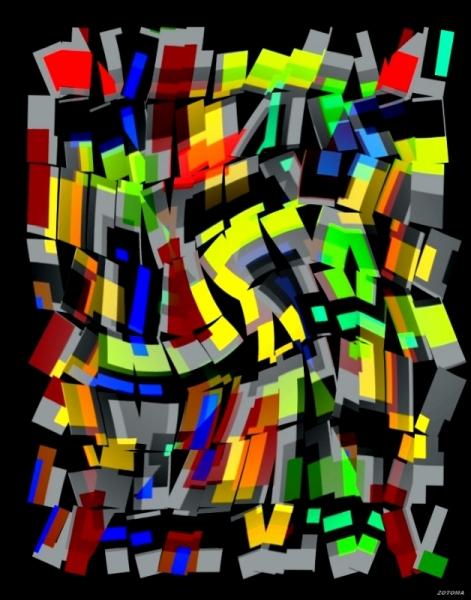 ART NUMéRIQUE vertical Abstrait numérique Abstrait  - 073/2015