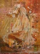 tableau personnages inde nu danse femme : intimite indienne